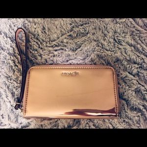 Coach Rose Gold Metallic Wristlet